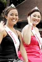 毎年日系ハワイアンの中から選ばれる第55回桜の女王