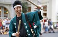福岡から善導寺太鼓の会 山響太鼓 力いっぱい若さがはじける太鼓演奏を披露