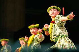 Halau Hula Olana's Keiki Hula (Children Hula)considered one of the best keiki hula groups in Hawaii.