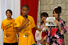 The students of KCC quickly translated from Japanese to English. Excellent!