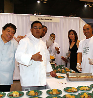 Chefs with their signature dishes