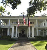 Washington Place, the official residence for the Governor of Hawai'i