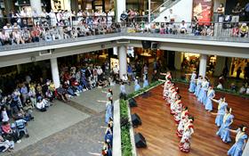 アラモアナセンターの満員のギャラリー
