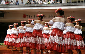 "The Obama Girls and Obama Boys. Their hula was reminiscent of the movie ""Hula Girls""."