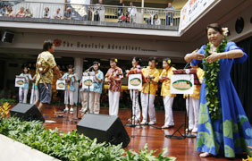 Ukulele Studio Mahana proudly performs at Ala Moana Center Stage.