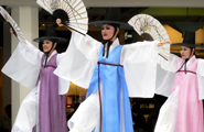 A traditional Korean dance, their costumes and music are so unique