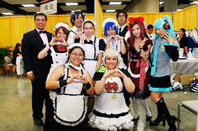 The Cosplay Cafe has become a popular attraction at the Honolulu Festival each year.