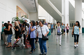 There was an endless flow of people at the Hawaii Convention Center.
