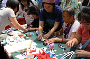 Eco Cloth Zouri Circle, many were interested in learning how to make slippers using old T-shirts
