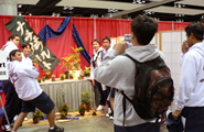 The Japanese I students of Kamehameha High School, Maui Campus, winners of the Maui Mikoshi Design Contest