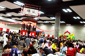 The Ennichi Corner was busier this year than previous years. It was much like being at a Summer Festival in Japan.