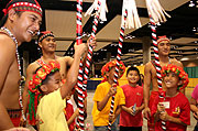 台湾の伝統的な遊びを体験