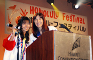 Wonderful emcees- Kei Segawa and Alice Inoue
