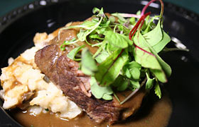 Ruth's Chris Steak House's juicy tenderloin steak dish.