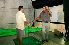 Golf lesson by Brian Mogg, professional golf coach to PGA and LPGA golfers.