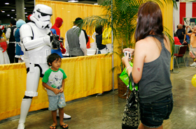 The characters in their costumes are kind enough to pose for pictures with children… even adults.
