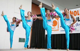 Dance Junction Hawaii is a popular dance group in Honolulu. They were in sync and their performance was magnificent.
