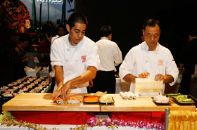 Shokudo's live demonstration of the California Roll.