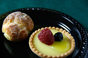 La Palme D'or Patisserie's lemon tarte and choux a la creme.