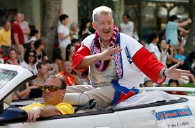 Honolulu Mayor Peter Carlisle was all smiles.