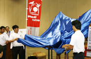 The students get ready to unveil their mikoshi
