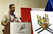Mr. Mossman, teacher of the Japanese classes at Kamehameha High School, Maui Campus, coordinated the students' project