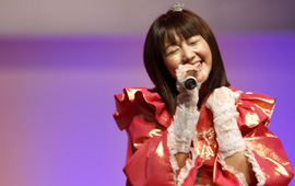 Momoi sang gently with all her feelings.  Perhaps the audience moved her to tears…