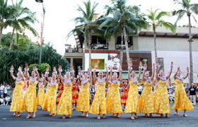 They danced the hula in unison. Hard to believe that they've been dancing for only one year.