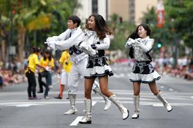 The cheerleading group from INHA University in Korea.