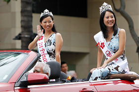 Cherry Blossom Queen and First Princess