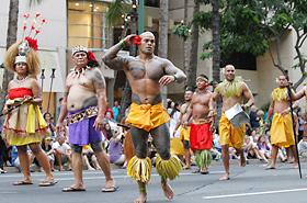 ソガイミティの皆さんの身体に彫られたサモアの伝統的なタトゥー。