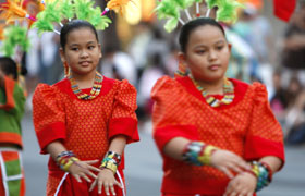 Montessori de Cagayan from the Philippines. Their performance was well received at the parade.