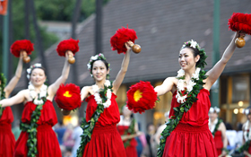 Many hula halau from various regions of Japan participate.