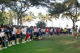 Roll call at 7:30 a.m. at Kapiolani Park