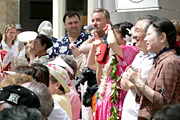 Audience at Waikiki Beach Walk