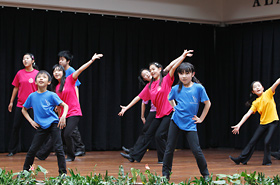Members of Youth Theatre Japan were really into their stage performance.