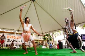 ディセンダンスのオーストラリアの先住民族の踊り