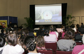 The area was packed during the presentation of Doraemon: Nobita's Dinosaur 2006-The Movie.