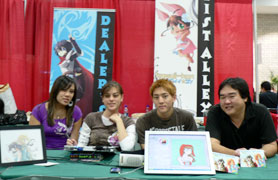 Kawaii Kon members displayed their talents of illustrating anime characters on their PCs.