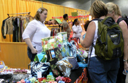 Katy Johnson of Hilo, Hawaii, designer of Hawaiian bags and accessories at reasonable prices