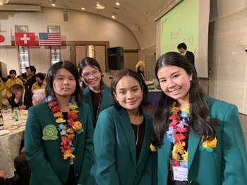 Kaimuki-High-School-Students-at-International-Cross-Cultural-Get-Together-Party